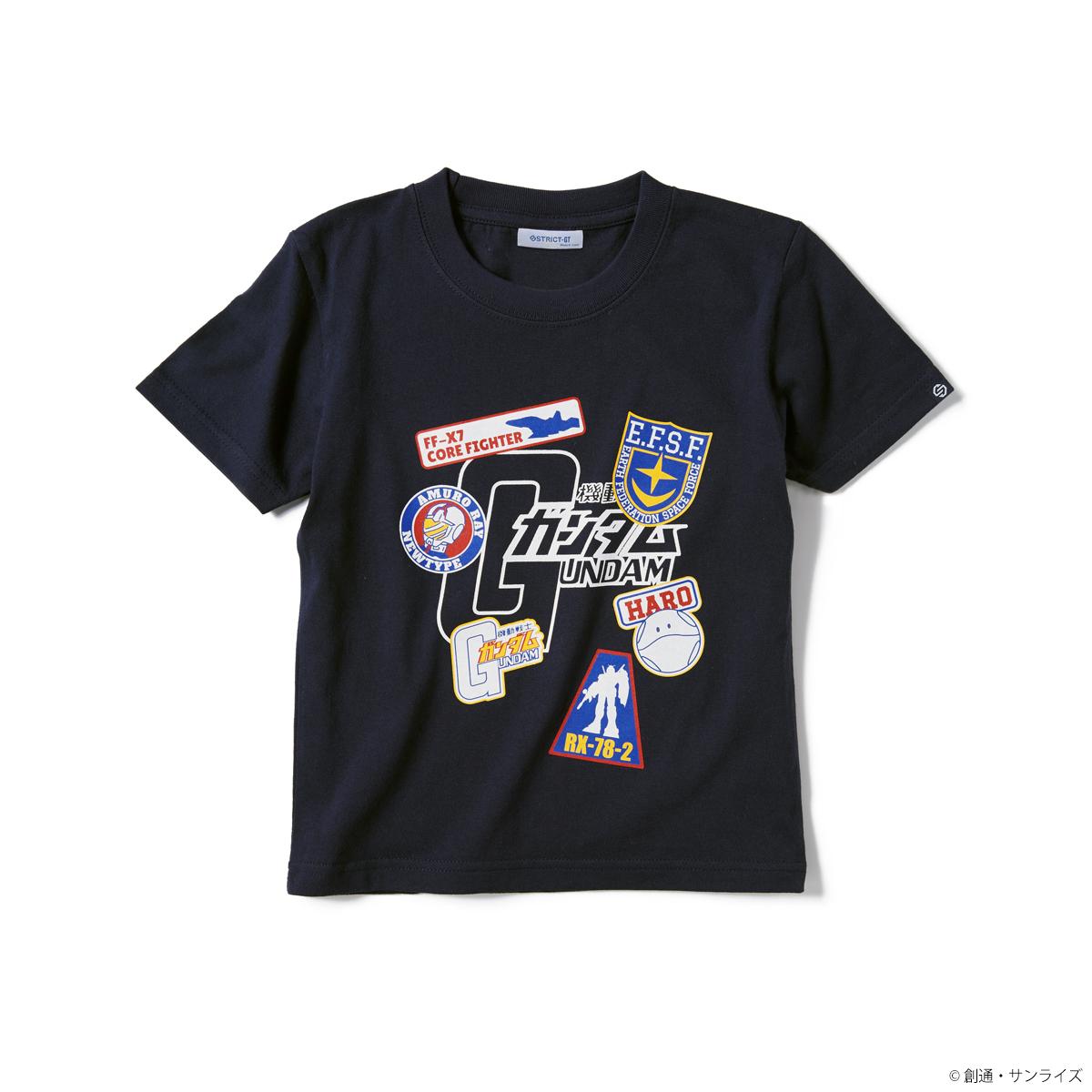 『機動戦士ガンダム』キッズTシャツ ワッペンイラスト柄