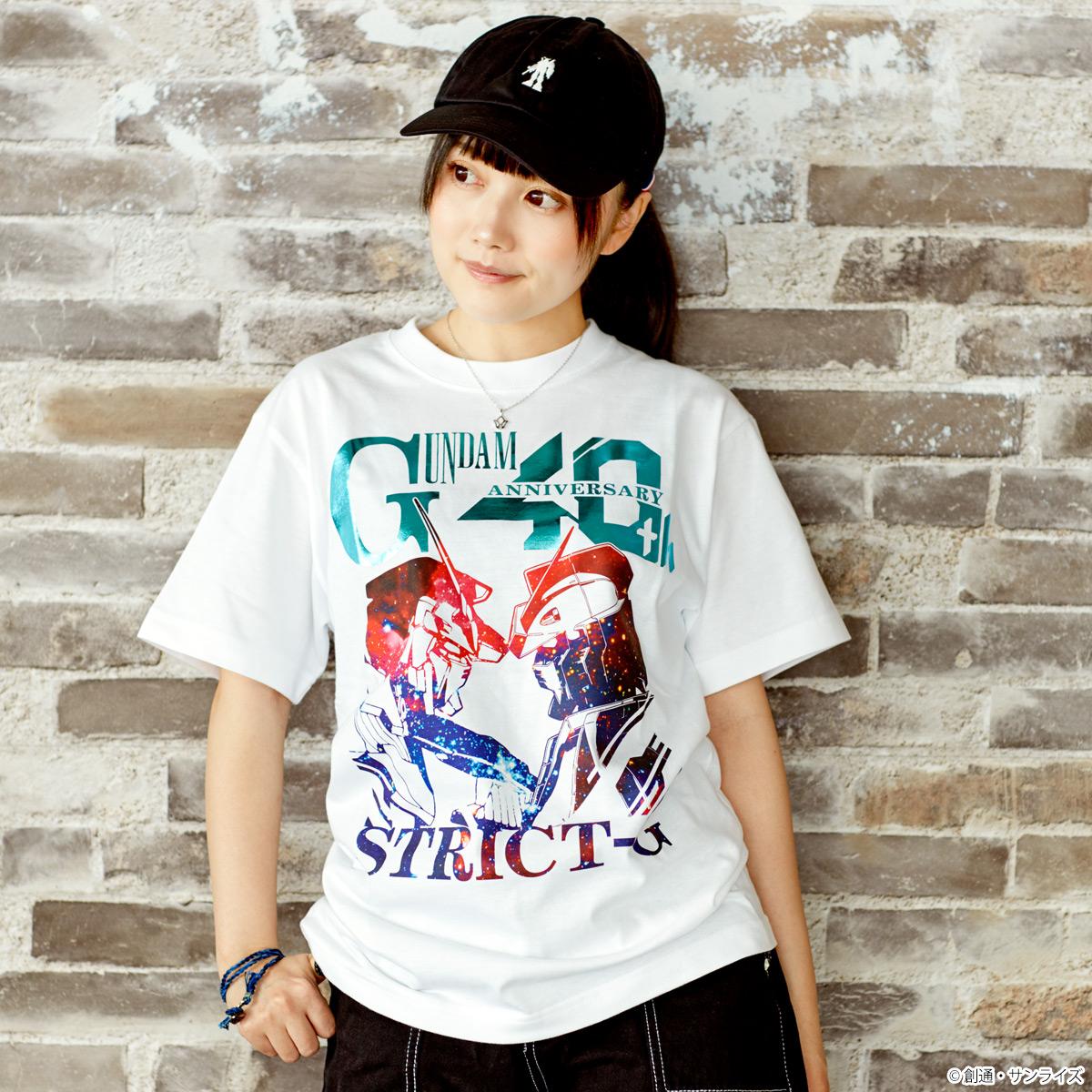 『機動戦士ガンダム』40周年記念グラデーション柄Tシャツ ガンダム&ユニコーンガンダム