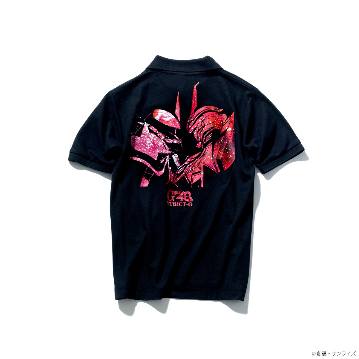 『機動戦士ガンダム』40周年記念グラデーション柄ポロシャツ シャア専用ザクII&シナンジュ