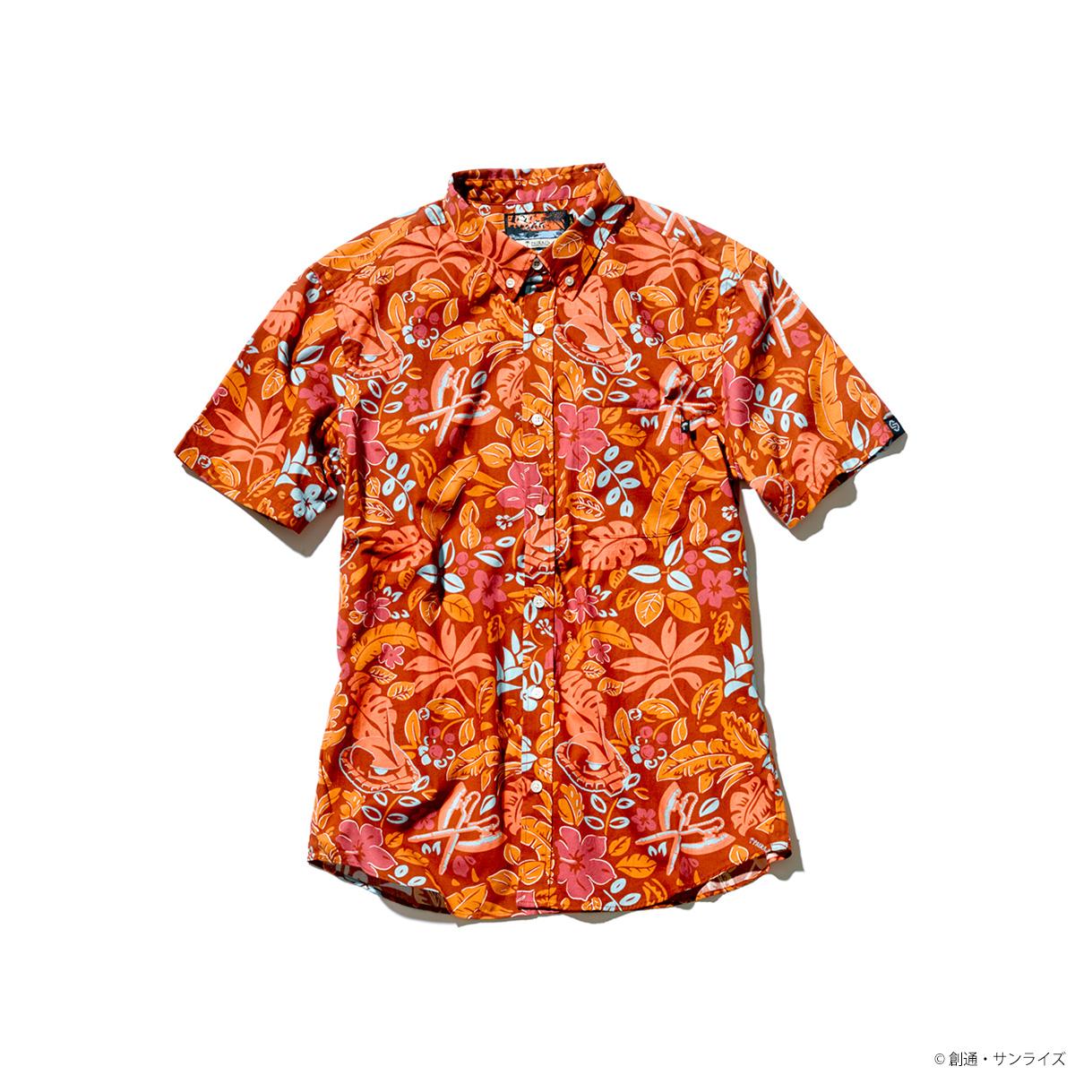 STRICT-G × PAIKAJI ボタンダウン アロハシャツ ボタニカル・アース柄(シャア専用ザクII)