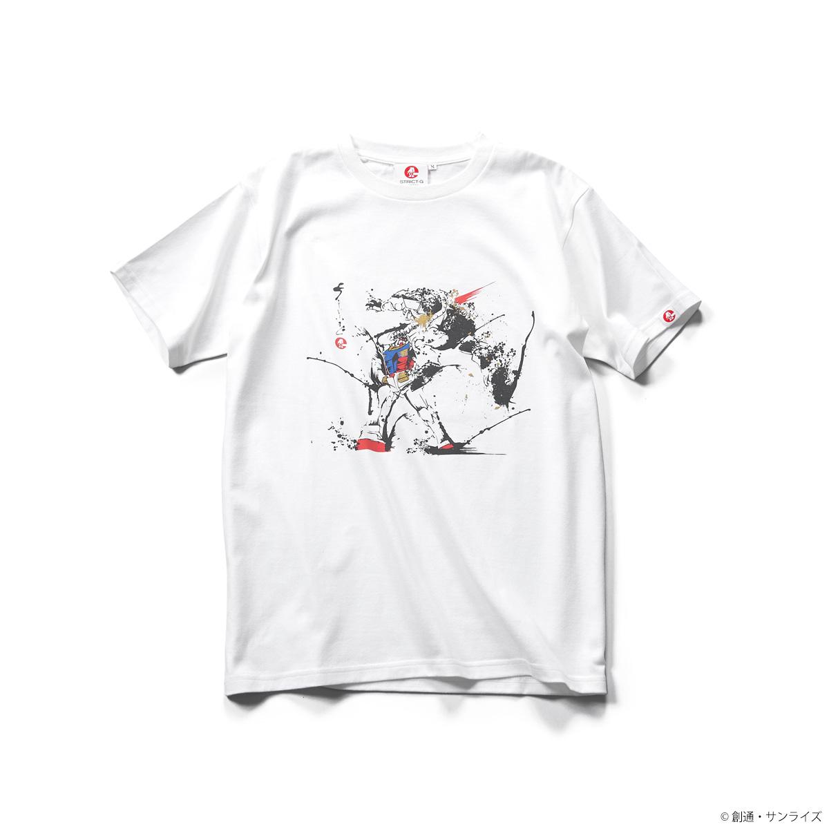 STRICT-G JAPAN『機動戦士ガンダム』筆絵Tシャツ ザク一刺し柄