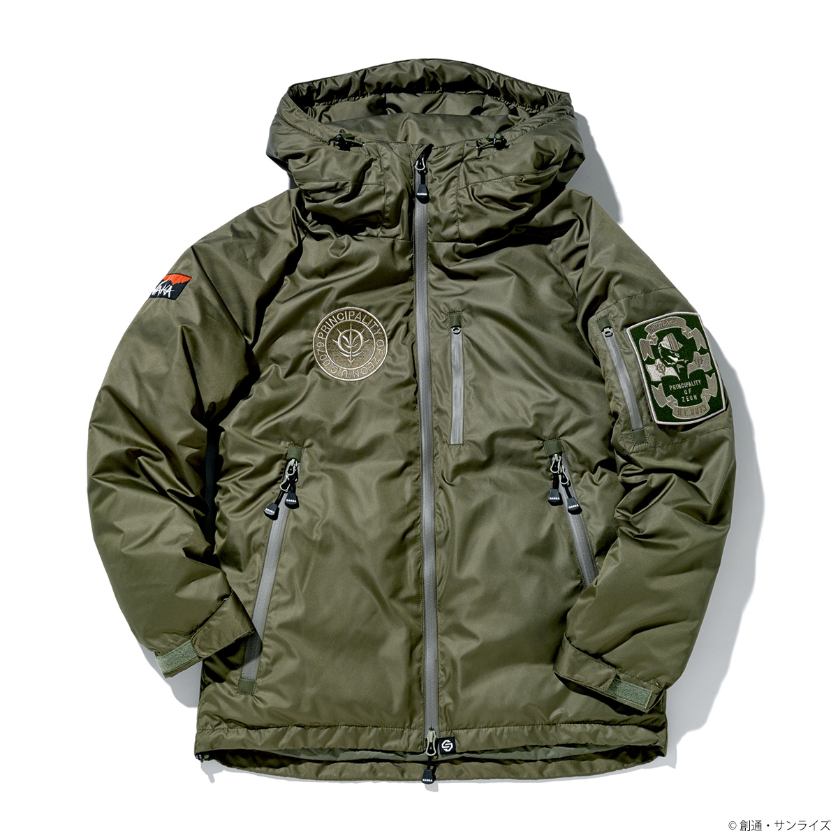 STRICT-G × NANGA ダウンジャケット『機動戦士ガンダム』40周年記念 ジオン軍モデル