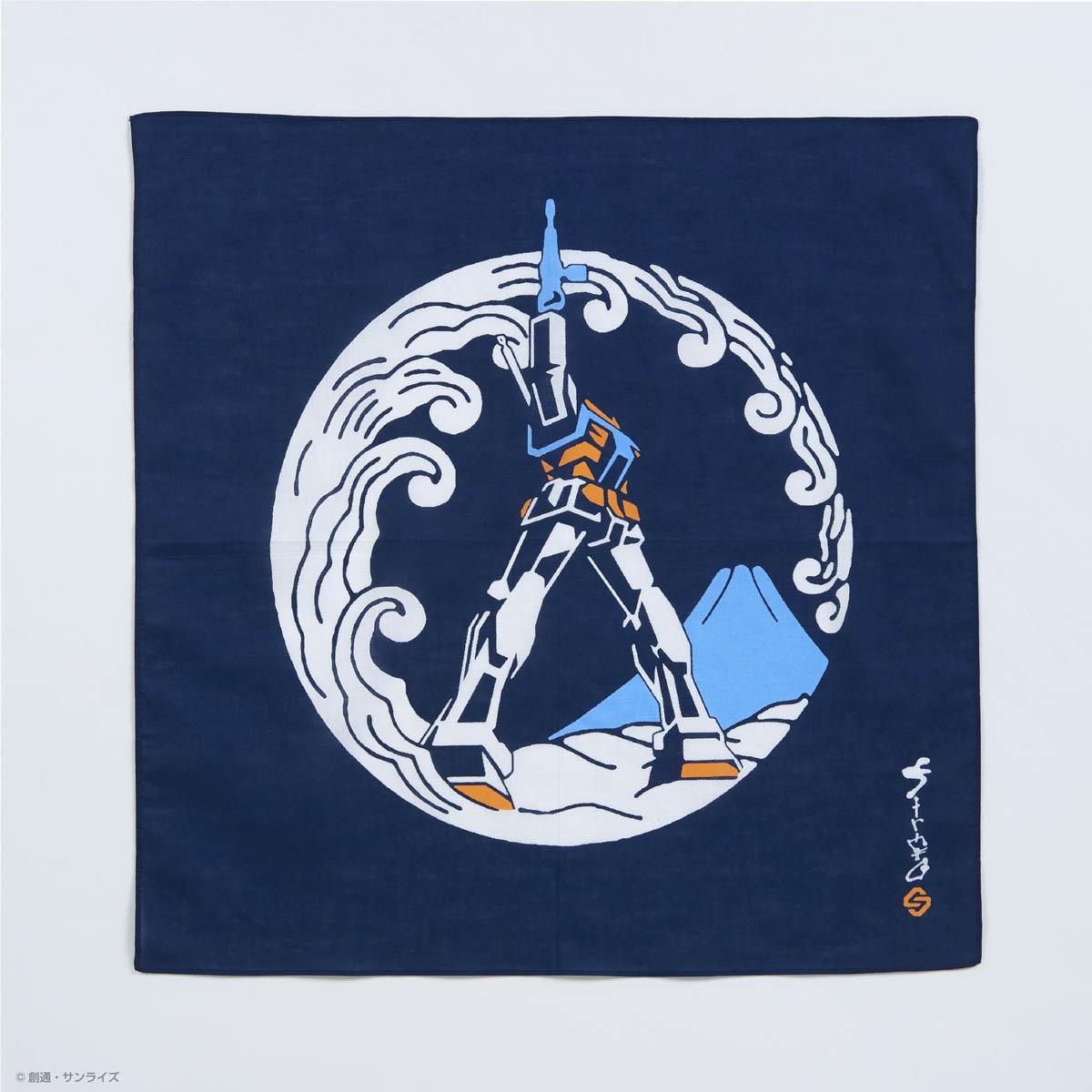 STRICT-G JAPAN 「機動戦士ガンダム」 ハンカチ ラストシューティング浪裏紋様柄