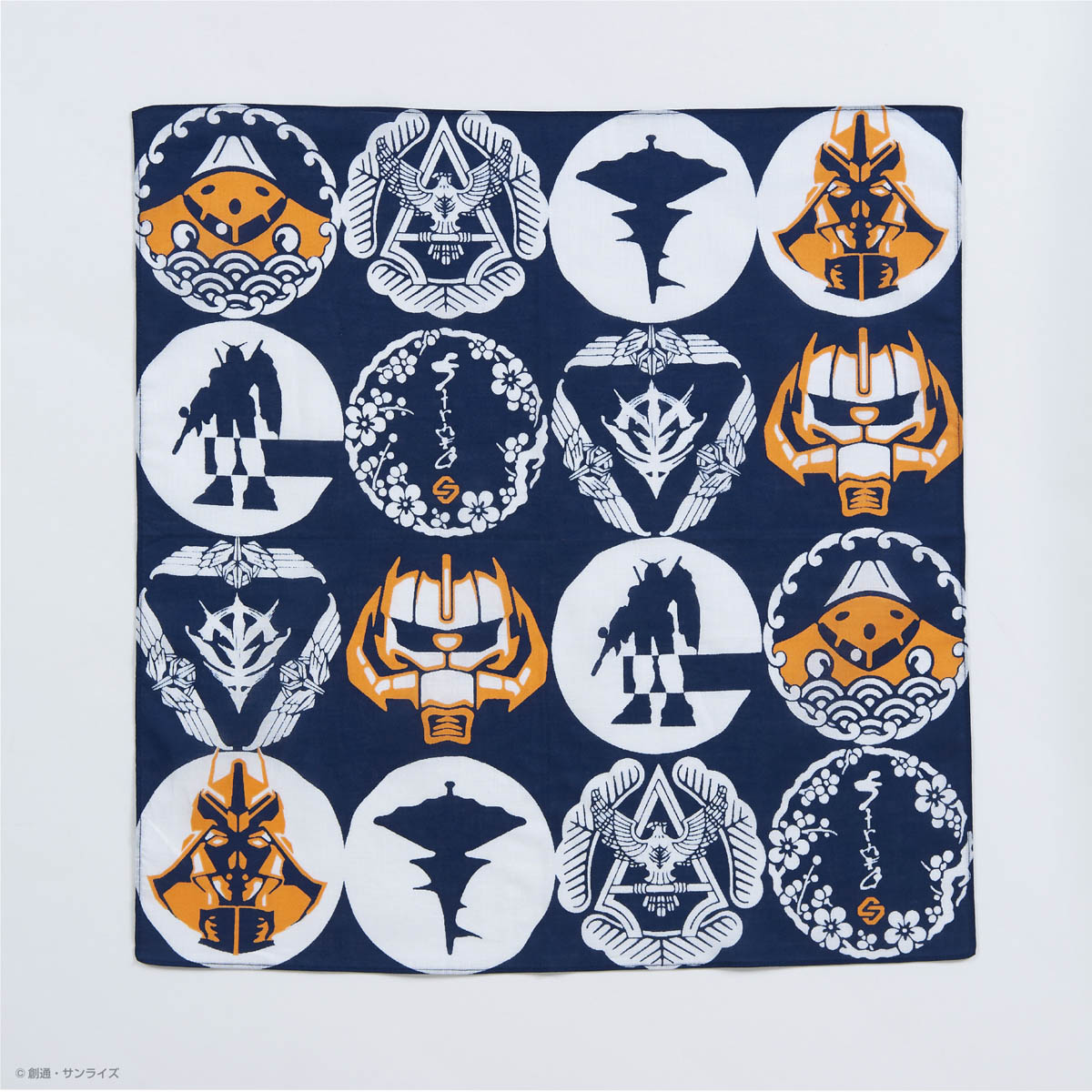 STRICT-G JAPAN 「機動戦士ガンダム」 ハンカチ 紋様柄
