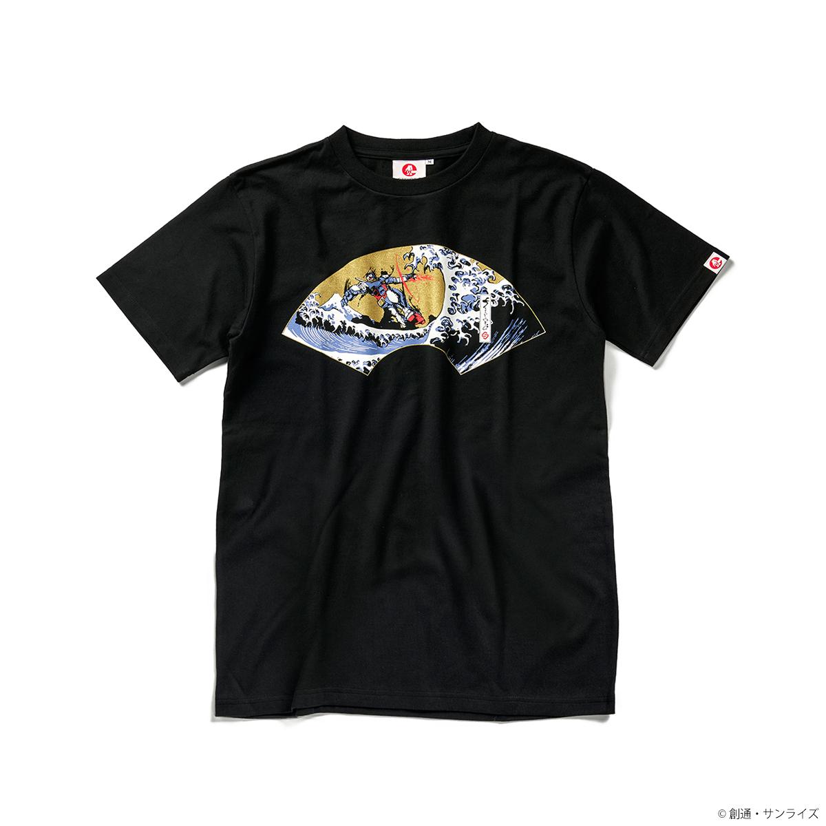 STRICT-G JAPAN 『機動戦士ガンダム』 Tシャツ 浪裏ガンダム扇柄