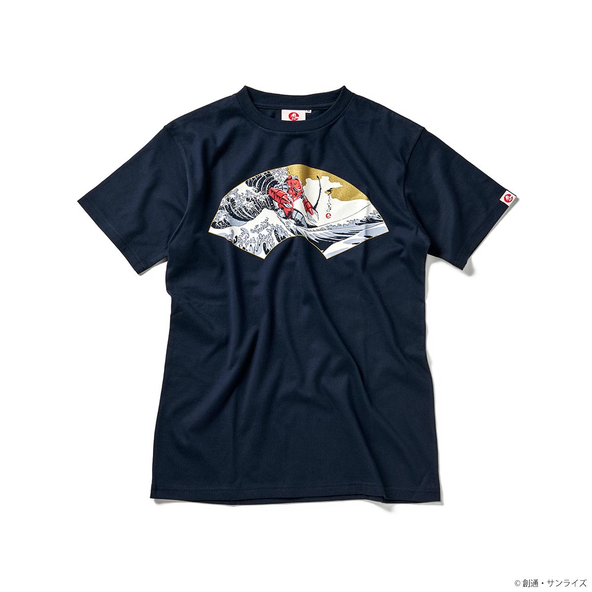 STRICT-G JAPAN 『機動戦士ガンダム』 Tシャツ 白浪ズゴック扇柄