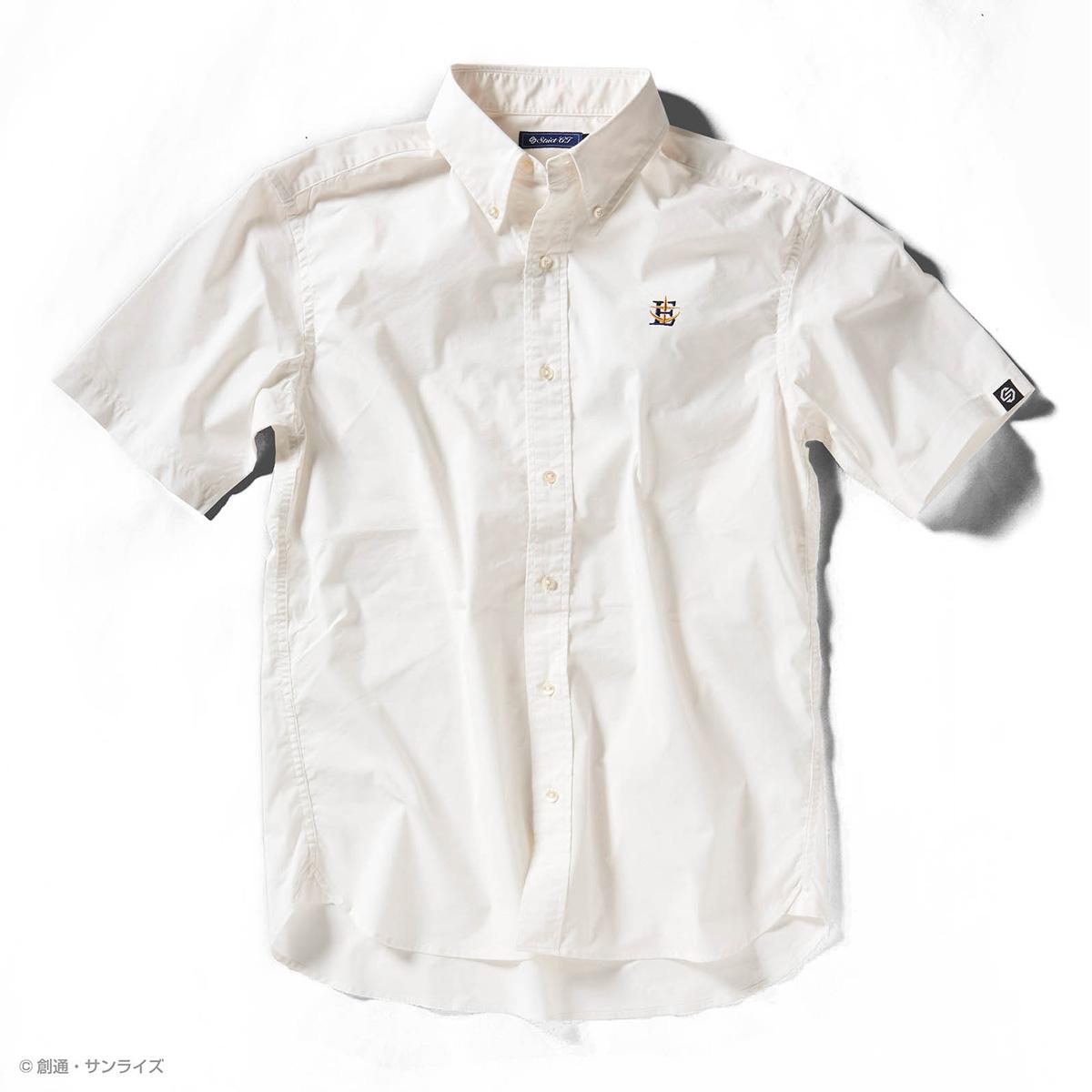 STRICT-G『機動戦士ガンダム』 クールマックス 半袖ボタンダウン刺繍シャツ E.F.S.F.