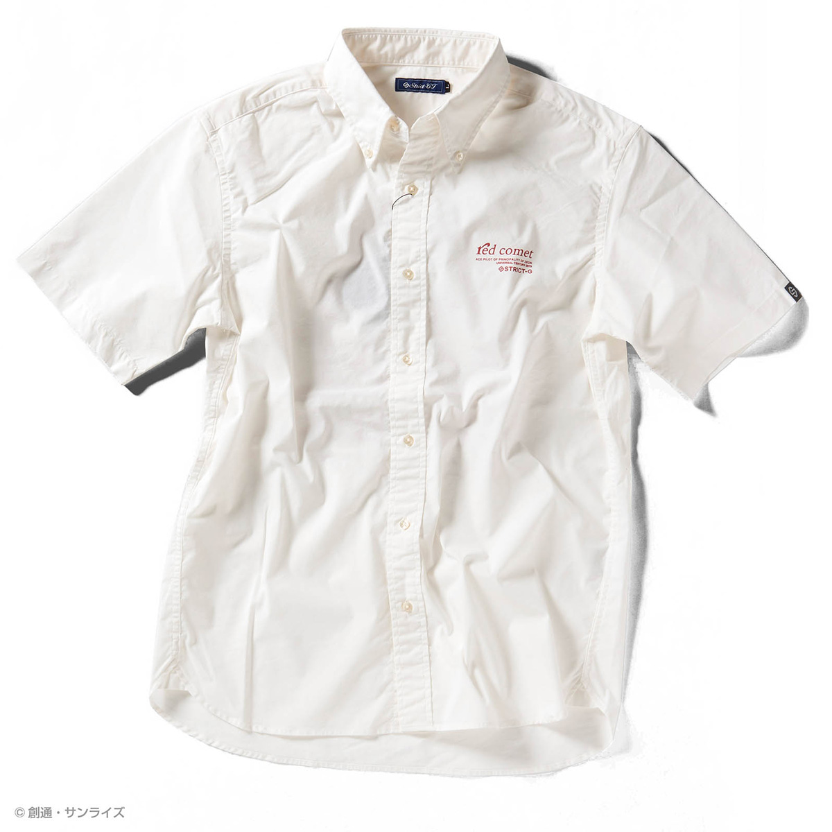 STRICT-G『機動戦士ガンダム』 クールマックス 半袖ボタンダウンPt.シャツ RED COMET