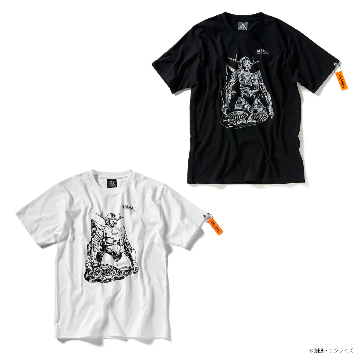 STRICT-G NEW YARK Tシャツ ジオングコラージュ柄