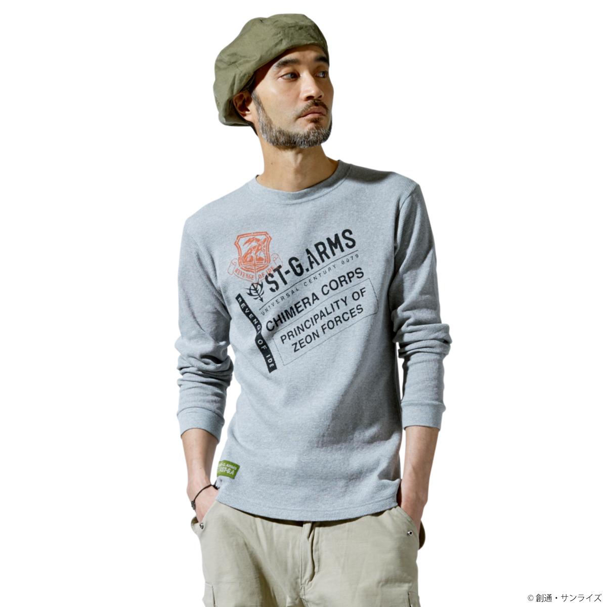 STRICT-G.ARMS『機動戦士ガンダム』ワッフル長袖Tシャツ CHIMERA CORPS