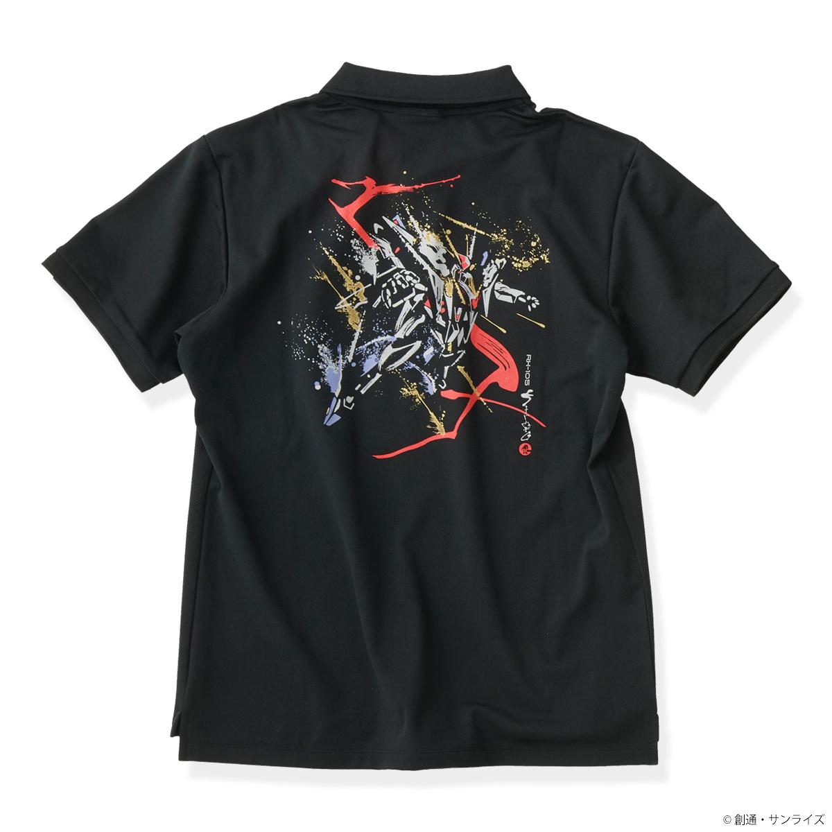STRICT-G JAPAN 『機動戦士ガンダム 閃光のハサウェイ』 ポロシャツ 筆絵風Ξ(クスィー)ガンダム