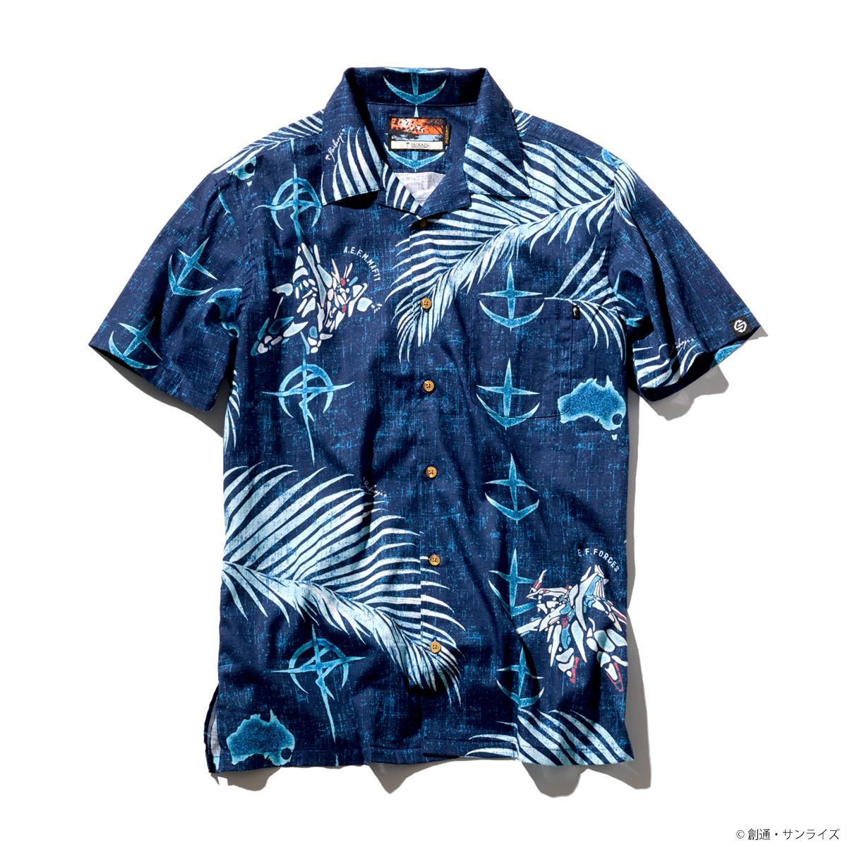 STRICT-G PAIKAJI『機動戦士ガンダム 閃光のハサウェイ』 アロハシャツ VS. Palm leaf