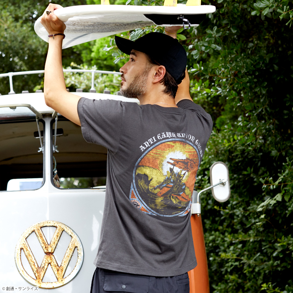 STRICT-G『機動戦士Zガンダム』 サーフポケットTシャツ サンセットビーチ百式