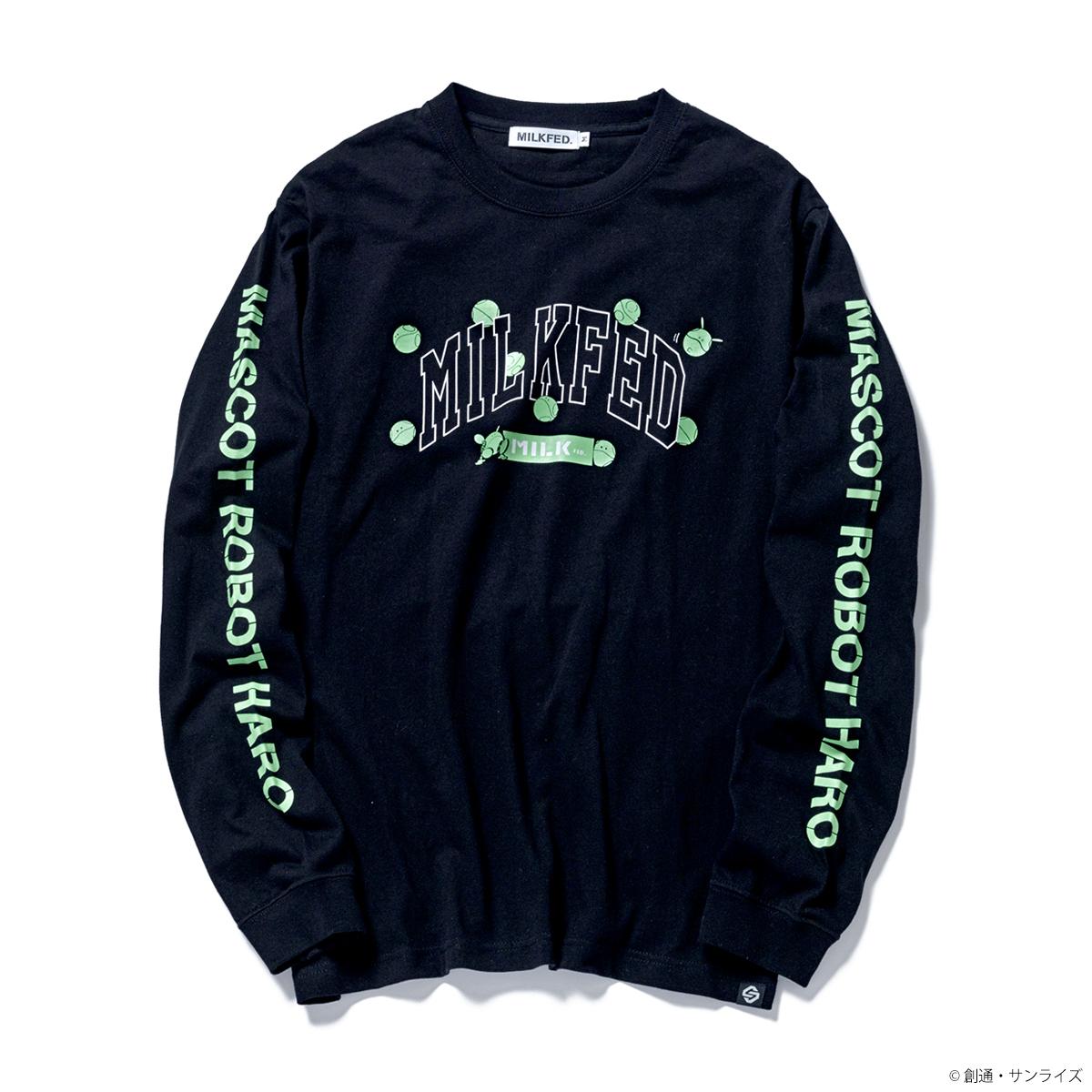 STRICT-G MILKFED.『機動戦士ガンダム』 長袖 Tシャツ ハロ カレッジロゴ