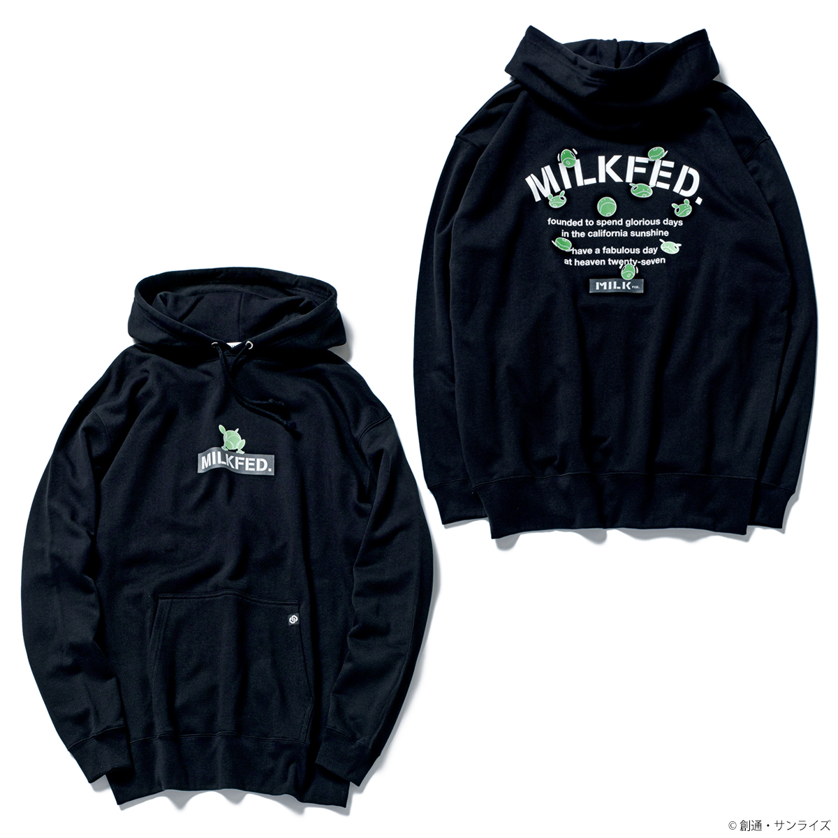 STRICT-G MILKFED.『機動戦士ガンダム』 パーカー ハロ バックロゴ